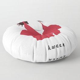 Ilana Wexler wearing a dog hoodie Floor Pillow