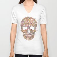 acid V-neck T-shirts featuring Acid Skull by Sitchko Igor