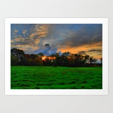 Sunset after the Storm Art Print