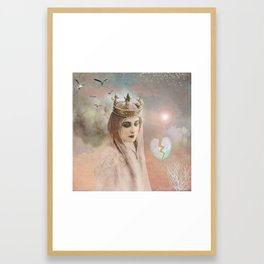 My heart is incomplete. Framed Art Print