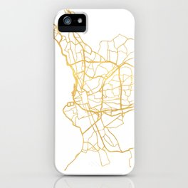 MARSEILLE FRANCE CITY STREET MAP ART iPhone Case