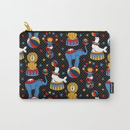 Little Circus Stars on Black Carry-All Pouch