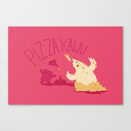 Pizza Kaiju Canvas Print