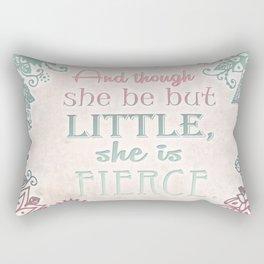 She Is Fierce  Rectangular Pillow