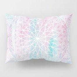 Pastel Mandala - Turquoise Pink Pillow Sham