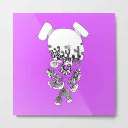 Pieced Away (purple)  Metal Print