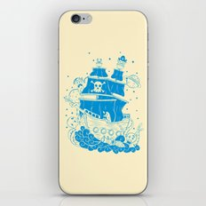 Piratas from outer space iPhone & iPod Skin