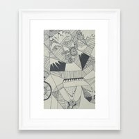 naked Framed Art Prints featuring Naked by Annemiek Boonstra