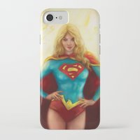 supergirl iPhone & iPod Cases featuring Supergirl by SachsIllustration