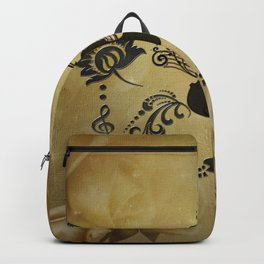 Wonderful violoin with elegant floral elements Backpack
