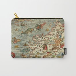Medieval Map Scandinavia 1539 Carry-All Pouch