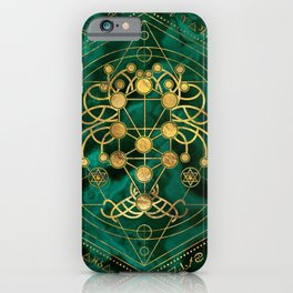 Kabbalah The Tree of Life -Malachite iPhone Case
