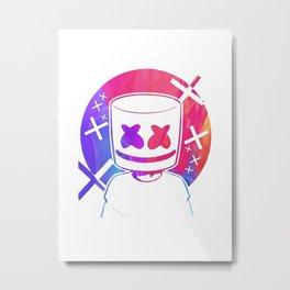 Marshmello watercolor Metal Print