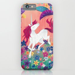 Floral Frolic Unicorn iPhone Case