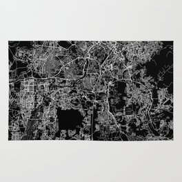 Kuala Lumpur Black Map Rug