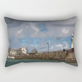 Lighthouse at St Ives, Cornwall, England Rectangular Pillow