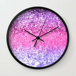 Unicorn Girls Glitter #6 #shiny #decor #art #society6 Wall Clock