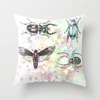 bugs Throw Pillows featuring Bugs! by Maria Enache