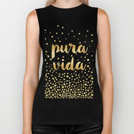 Pura Vida Gold on Teal Biker Tank