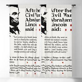 After the Civil War Abraham Lincoln said Let us strive on to finish the work we are in (1919) issued Blackout Curtain