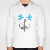 sam smith Hoodies featuring Sam Anchor of Love by Annette Jimerson