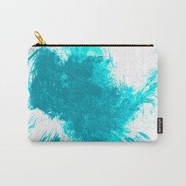 Abstract Aqua Brushstroke Splash Twist Carry-All Pouch