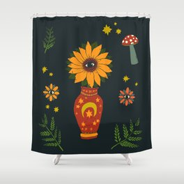 Magic Sunflower Vase Shower Curtain