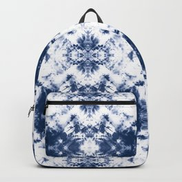 Shibori Tie Dye 3 Indigo Blue Backpack