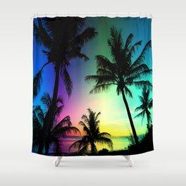 California Palm Trees Dream Shower Curtain