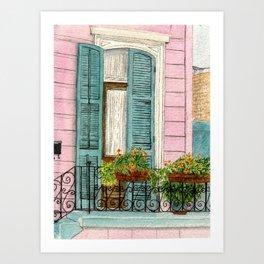 New Orleans Shutters Art Print