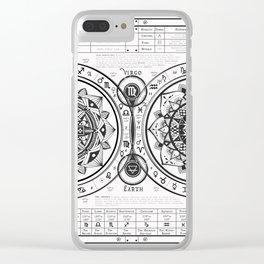 Virgo Zodiac Mandala Chart Clear iPhone Case