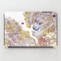 red riding hood iPad Cases featuring Lttle Red Riding Hood by Pictographe