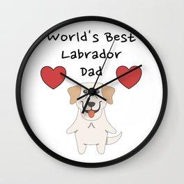 World's Best Labrador Dad   Cute Dog Father Design Wall Clock