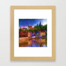 The Inn at the River's Edge Framed Art Print