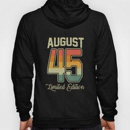 Vintage 75th Birthday August 1945 Sports Gift Hoody