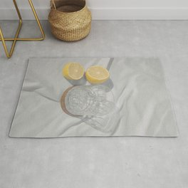 Glass and lemons Still Life Rug