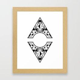 Aztec Diamond Framed Art Print