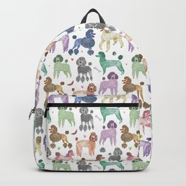 Poodles by Veronique de Jong Backpack
