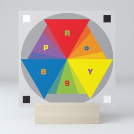 Color wheel by Dennis Weber / Shreddy Studio with special clock version Mini Art Print