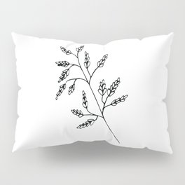 Branch White Pillow Sham