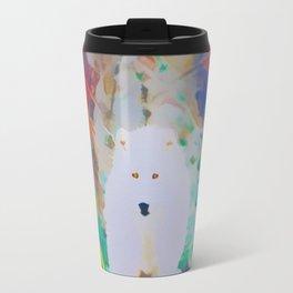 The White Beast in the Rainbow Travel Mug