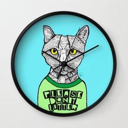 Please Don't Litter -Cat Wall Clock