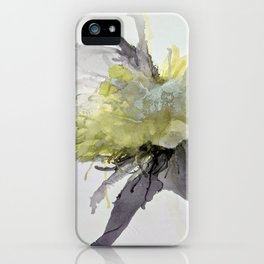 Ink Flower Yellow iPhone Case