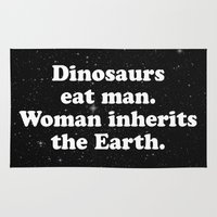 dinosaurs Area & Throw Rugs featuring dinosaurs by MelleNora