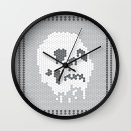 Skull Tile Wall Clock
