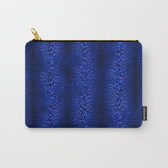 Wild Blue Leopard Carry-All Pouch