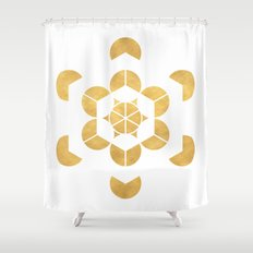 HEXAHEDRON CUBE sacred geometry Shower Curtain