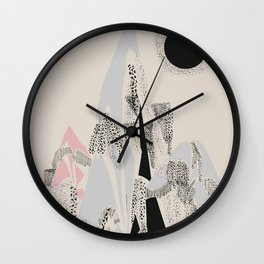 Dusty Mountain Wall Clock