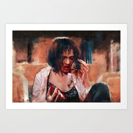 Adrenaline Shot - Mia Wallace - Pulp Fiction Art Print