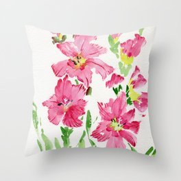 Glad In  Pink Throw Pillow